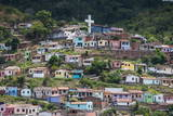 View over Colourful Houses in Cachoeira  Bahia  Brazil  South America
