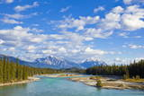 The Athabasca River Flowing Through Jasper National Park
