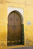 Door to Mosque  Medina  Meknes  Morocco  North Africa  Africa