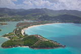 View over Jolly Harbour  Antigua  Leeward Islands  West Indies  Caribbean  Central America