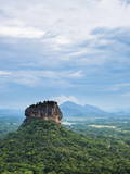 Sigiriya Rock Fortress  UNESCO World Heritage Site  Seen from Pidurangala Rock  Sri Lanka  Asia