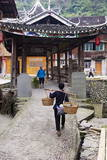 Dong Village of Zhaoxing  Guizhou Province  China  Asia