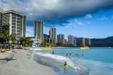 High Rise Hotels on Waikiki Beach  Oahu  Hawaii  United States of America  Pacific