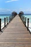 Hotel Jetty  Bwejuu Beach  Zanzibar  Tanzania  Indian Ocean  East Africa  Africa