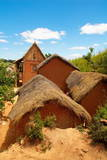 Traditional Houses on Hill around Tananarive  Madagascar  Africa