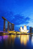 Marina Bay Sands Hotel and Arts Science Museum  Singapore  Southeast Asia  Asia