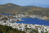 View over Skala  Patmos  Dodecanese  Greek Islands  Greece  Europe