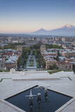 View of Yerevan and Mount Ararat from Cascade  Yerevan  Armenia  Central Asia  Asia