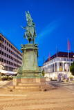 Statue on Ostra Larmgatan at Dusk  Gothenburg  Sweden  Scandinavia  Europe
