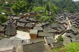 Drum Tower at Rongjiang  Guizhou Province  China  Asia