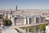 Looking Down on the Conciergerie in Paris  France  Europe