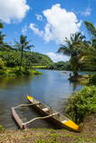 Dugout Canoe on the Wailua River Kauai  Hawaii  United States of America  Pacific