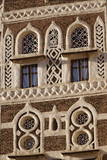 Architectural Detail  Old City of Sanaa  UNESCO World Heritage Site  Yemen  Middle East