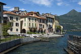 Lake Side  by the Harbour  Rezzonico  Lake Como  Italian Lakes  Lombardy  Italy  Europe