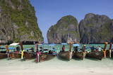 Maya Bay with Long-Tail Boats  Phi Phi Lay  Krabi Province  Thailand  Southeast Asia  Asia