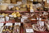 Cheese and Salamis at Papiniano Market  Milan  Lombardy  Italy  Europe
