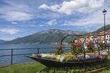 Flower Boat  Domaso  Lake Como  Italian Lakes  Lombardy  Italy  Europe