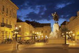 Klauzal Square at Dusk  Szeged  Southern Plain  Hungary  Europe