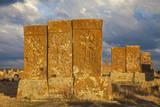 Khachkars at Noratus Cemetery  Lake Seven  Armenia  Central Asia  Asia