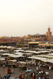 Marrakesh at Dusk  Djemaa El-Fna  Marrakech  Morocco  North Africa  Africa