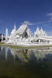 Wat Rong Khun (White Temple)  Chiang Rai  Northern Thailand  Thailand  Southeast Asia  Asia