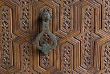 Detail of a Carved Wooden Door in the Musee De Marrakech  Marrakech  Morocco  North Africa  Africa