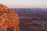 Sunset over Dead Horse Point State Park  Utah  United States of America  North America