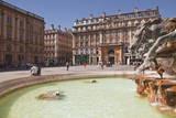 Fontaine Bartholdi in Place Des Terreaux  Lyon  Rhone  Rhone-Alpes  France  Europe