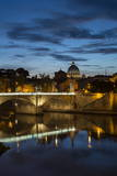 Ponte Vittorio Emanuelle Ii and the Dome of St Peter's Basilica  Rome  Lazio  Italy  Europe