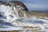 The Frozen Llyn Y Gadair Below Summit of Cyfrwy