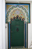 Door in the Medina (Old City)  Tangier (Tanger)  Morocco  North Africa  Africa