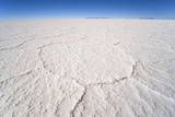 Hexagonal Shaped Salt Flats  Salar De Uyuni  Bolivia  South America