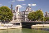 Pont D'Arcole and Hotel De Ville  Paris  France  Europe