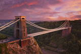 Clifton Suspension Bridge at Sunset  Clifton Downs  Bristol  England  United Kingdom  Europe