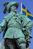 Bronze Statue of the Town Founder Gustav Adolf