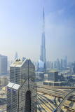Burj Khalifa and City Skyline  Downtown  Dubai  United Arab Emirates  Middle East