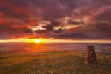 Sunrise on Great Ridge  Mam Tor  Hope Valley  Peak District National Park  Derbyshire