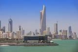 Arabian Gulf and City Skyline  Salmiya  Kuwait City  Kuwait  Middle East