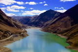 Mountain Range and Artificial Lake (Reservoir) Near the Karo-La Pass