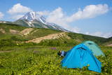 Camping Below the Vilyuchinsk Volcano  Kamchatka  Russia  Eurasia