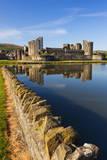 Caerphilly Castle  Gwent  Wales  United Kingdom  Europe