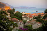 View over Old Town at Sunset  Dubrovnik  Dalmatia  Croatia  Europe