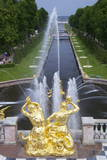 Peterhof Fountains of the Grand Cascade and Gardens in Summer
