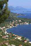 High View of Coastline  Viganj  Peljesac Peninsula  Croatia  Europe