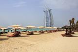 Burj Al Arab and Jumeirah Beach  Dubai  United Arab Emirates  Middle East