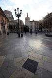 A Square in Central Valencia  Valencia  Spain  Europe