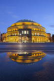 Royal Albert Hall Reflected in Puddle  London  England  United Kingdom  Europe