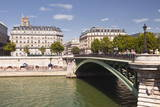 Pont D'Arcole with the Annual Paris Plage on the Banks of the River Seine  Paris  France  Europe