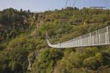 Tourists Crossing Swinging Bridge over Khndzoresk Canyon