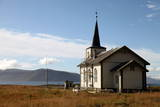 Church at Uninhabited Island of Helgoy  Troms  North Norway  Norway  Scandinavia  Europe